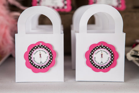 Lingerie Bachelorette Favor Tags - Hot Pink & Black Polka Dot - Get The Party Started