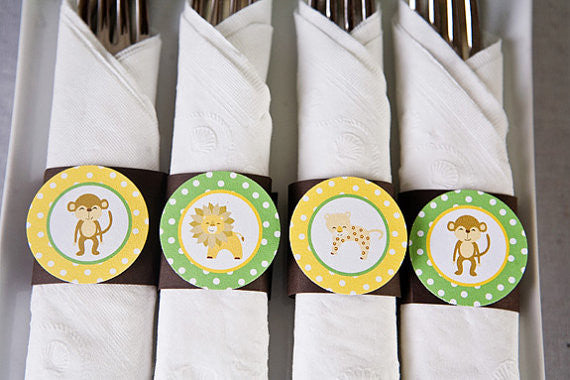 Jungle Napkin Rings Birthday Party - Get The Party Started
