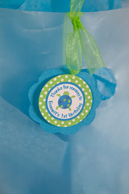 Ocean Favor Tags Birthday Party - Get The Party Started