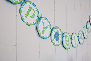 Ocean Happy Birthday Banner Large - Get The Party Started