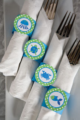 Ocean Napkin Rings Birthday Party - Get The Party Started