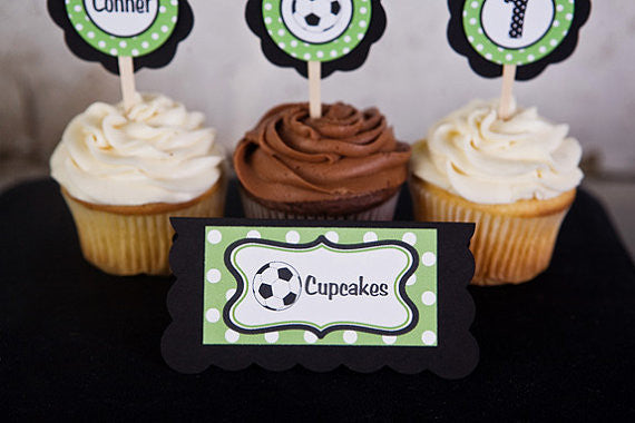 Soccer Food Tents Birthday Party - Green & Black - Get The Party Started