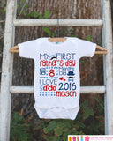 Kids Father's Day Outfit - Boys Happy 1st Fathers Day Onepiece or Tshirt - Baby Boy, Toddler, Infant, Newborn, Kids Fathers Day Gift Idea