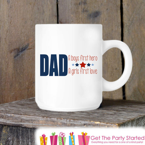 Coffee Mug, Father's Day Mug, Dad Hero Mug, Novelty Ceramic Mug, Coffee Cup Gift, Fathers Day Gift, New Dad Mug, Dad Coffee Mug - Get The Party Started
