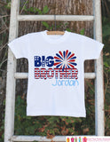 Boys 4th of July Outfit - Custom Big Brother Onepiece or Tshirt - Fourth of July Shirt for Baby Boys - Kids Patriotic Shirt - 4th of July