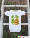 Pineapple Onepiece or Tshirt - Custom Summer Outfit For Kids, Infants -  Summer Onepiece or Shirt, Baby, Youth, Toddler - Fun Summer Outfit
