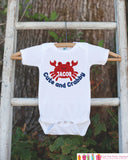 Cute and Crabby Onepiece or T-shirt - Custom Summer Outfit For Kids, Infants - Crab Shirt - Summer Onepiece or Shirt, Baby, Youth, Toddler