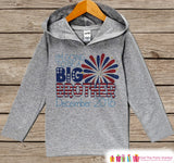Boys 4th of July Outfit - Custom Big Brother Hoodie - Children's Pullover - Grey Toddler Hoodie - Infant Hoodie - Kids Fourth of July - Get The Party Started