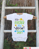 Boys New Years Outfit - Little Mister New Year 2017 - Happy New Years Eve Onepiece - Baby's First - 1st New Year Bodysuit for Baby Boys