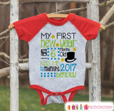 First New Year Outfit - Custom New Years Shirt - Personalized New Years Eve Onepiece - Baby's First Holiday - 1st New Year Bodysuit for Baby - Get The Party Started