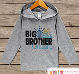 Big Brother New Year Outfit - New Years Eve 2017 - Grey Pullover for Boys - Baby or Toddler Hoodie - Children's Grey Hoodie - Sibling Outfit