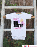 Big Sister Outfit - Sibling Outfits - Custom New Years Eve Shirt or Onepiece - Pregnancy Announcement - Sibling Reveal - New Year Fireworks