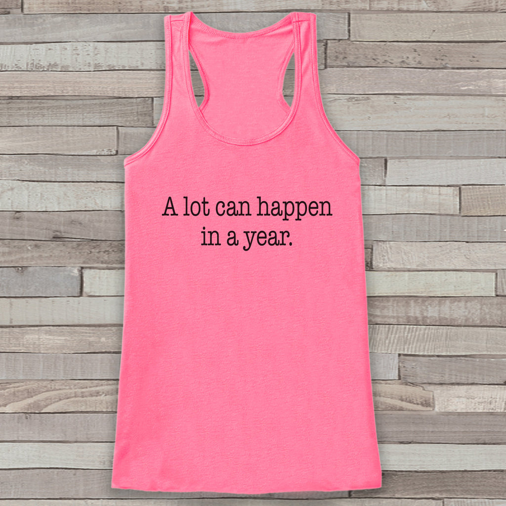 New Years Tank Top - Happy New Year - Womens Tank Top - Happy New Year Tank -  Pink Tank - Pink Tank Top - Funny New Years - Workout Top - Get The Party Started