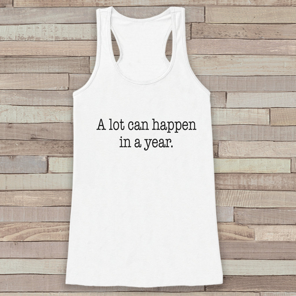 New Years Tank Top - Happy New Year - Womens Tank Top - Happy New Year Tank -  White Tank - White Tank Top - Funny New Years - Workout Top - Get The Party Started