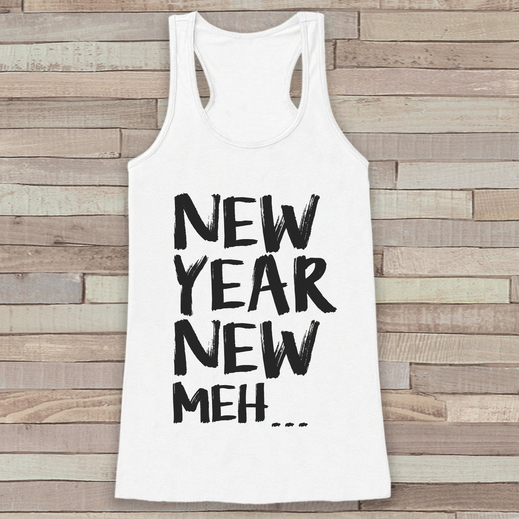 New Years Tank Top - Funny Tank - Womens Tank Top - Happy New Years Tank - White Tank - White Tank Top - Funny New Years - Workout Tank Top - Get The Party Started
