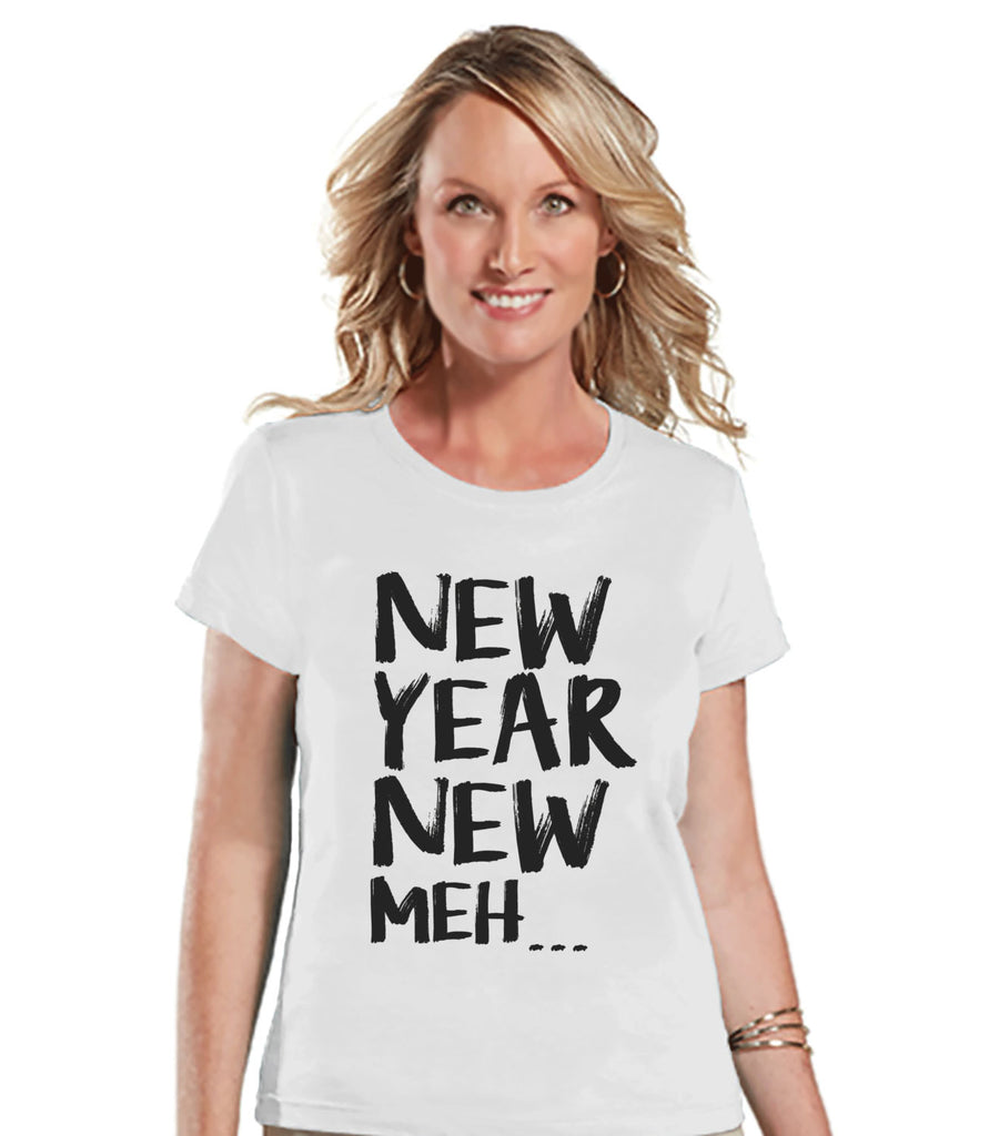 New Years Eve Shirt - Womens Novelty Shirt - White T Shirt - Womens T-Shirt - Funny New Years Shirt - Womens White Tee - Ladies Holiday Top - Get The Party Started