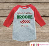 Dear Santa Shirt Red Arrow - Cute Kids Christmas Outfit - Funny Sibling Christmas Shirt or Onepiece - Boy Girl - Kids, Baby, Toddler, Youth