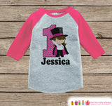 Girls Birthday Outfit - Magician Birthday Shirt - Onepiece or Tshirt - First Birthday Outfit - Pink Raglan Birthday Shirt - 1st Birthday Top