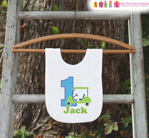 First Birthday Bib for Baby - Golf 1st Birthday Party Bib - Custom Bib - Personalized Birthday Bib - Boys First Birthday Outfit - Golf Party