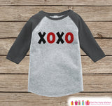 Kids Valentines Outfit - XOXO Kids Valentine's Day Shirt or Onepiece - Valentine Shirt for Boy or Girl - Toddler, Youth Valentine Day Outfit - Get The Party Started