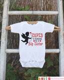 Big Sister Pregnancy Announcement Shirt - Cupid Big Sister Outfit - Big Sister Shirt - Valentines Pregnancy Announcement - Pregnancy Reveal