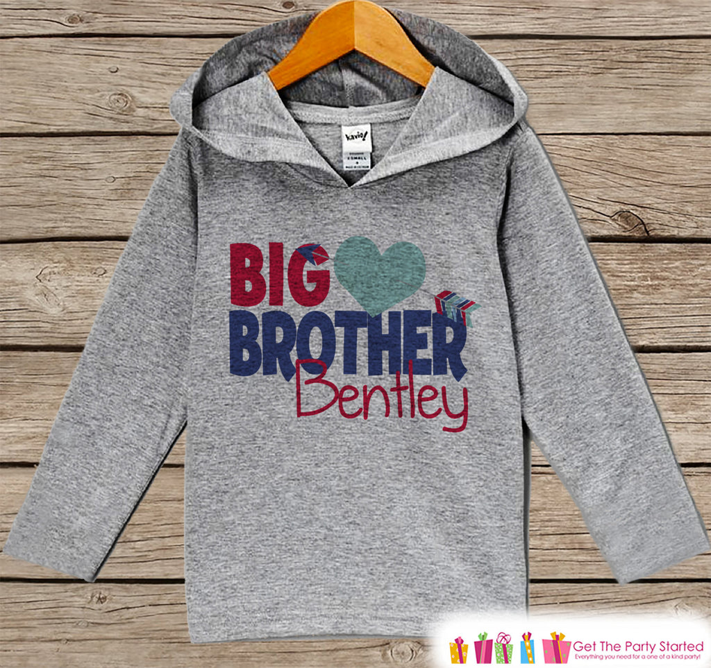 Boys Valentines Day Outfit - Kids Hoodie - Big Brother Valentine Pullover - Boys Valentine's Outfit - Kids, Baby, Toddler, Sibling Shirt - Get The Party Started