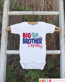 Big Brother Shirt or Onepiece - Sibling Outfits - Custom Valentine's Day Outfit - Pregnancy Announcement - Big Brother Little Brother Shirts