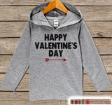 Kids Valentines Day Outfit - Girl or Boy Hoodie - Happy Valentine Pullover - Red Arrow Valentine's Day Outfit - Baby, Kids, Toddler Hoodie - Get The Party Started