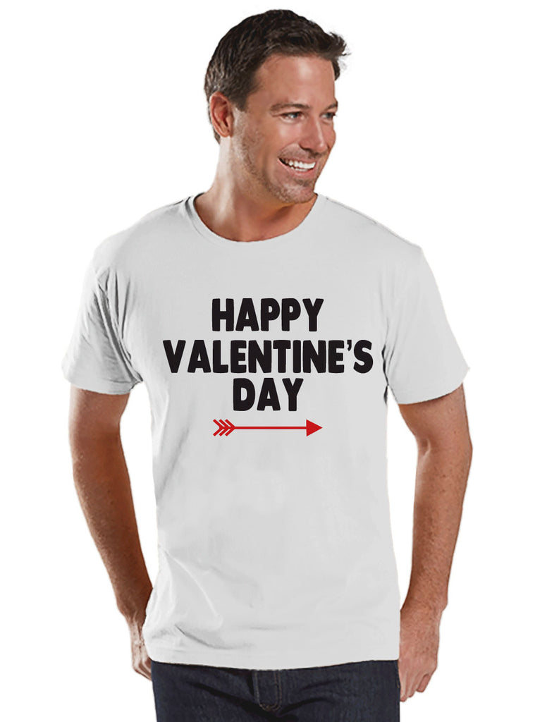 Men's Valentine Shirt - Happy Valentine's Day Shirt - Mens Valentines Day Shirt - Valentines Gift for Him - Husband, Boyfriend - White Shirt - Get The Party Started