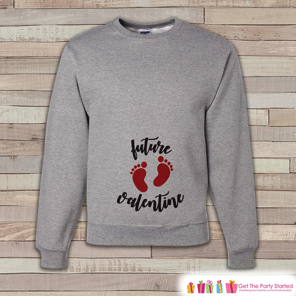 Valentine's Pregnancy Reveal - Future Valentine Sweatshirt - Pregnancy Announcement - Valentine's Day Pregnancy Reveal - Women's Sweatshirt - Get The Party Started