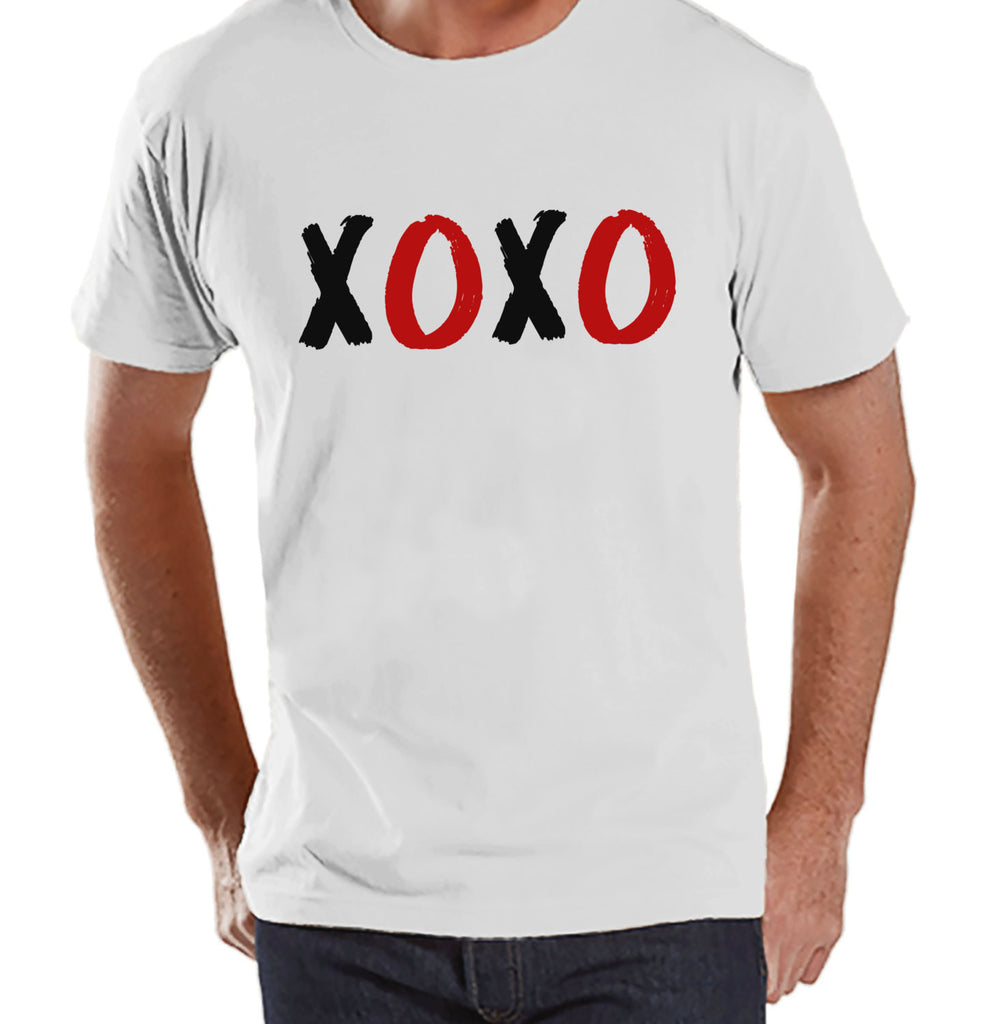 Men's Valentine Shirt - Mens XOXO Valentines Day Shirt - Valentines Gift for Him - Hugs & Kisses - Funny Happy Valentine's Day - White Shirt - Get The Party Started