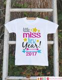 Girls New Years Outfit - Little Miss New Year 2017 - Happy New Years Eve Onepiece - Baby's First - 1st New Year Bodysuit for Baby Girls - Get The Party Started