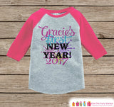 Custom New Years Outfit - New Years Eve - 2017 Happy New Years Onepiece - Kids Holiday Shirt - New Year Baby Bodysuit - Pink Baseball Tee - Get The Party Started
