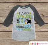 First New Year Outfit - Custom New Year Shirt - Personalized New Years Eve Onepiece - Baby's First Holiday - 1st New Year Bodysuit for Baby - Get The Party Started