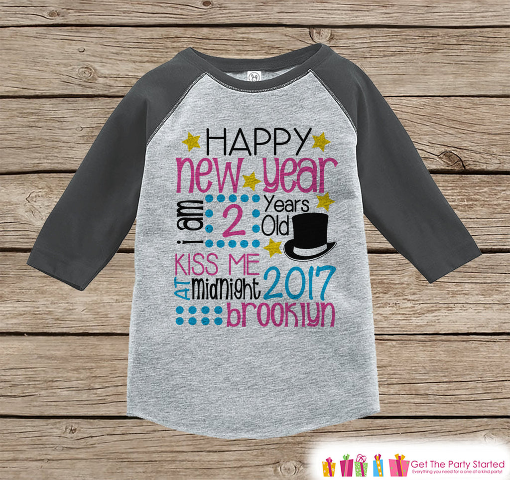 First New Year Outfit - Personalized New Year Shirt - Custom New Years Eve Onepiece - Baby's First Holiday - 1st New Year Bodysuit for Baby - Get The Party Started