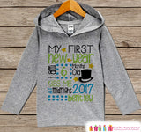 My First New Years Outfit - Personalized New Years Pullover - Baby New Year's Outfit - Grey Hoodie for Baby or Toddler - New Year's 2017 - Get The Party Started