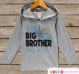 Big Brother New Years Outfit - Grey Pullover for Boys - Custom Baby or Toddler Hoodie - Pregnancy Announcement - Sibling Reveal
