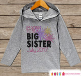 Big Sister New Years Outfit - Custom Hoodie for Baby or Toddler- Grey Pullover for Girls - Pregnancy Announcement - Sibling Reveal