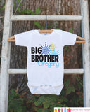 Big Brother Shirt or Onepiece - Sibling Outfits - Custom New Years Eve Outfit - Pregnancy Announcement - Sibling Reveal - New Year Fireworks