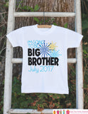 Big Brother Outfit - Sibling Outfits - Custom New Years Eve Shirt or Onepiece - Pregnancy Announcement - Sibling Reveal - New Year Fireworks