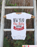New Year New Baby Outfit - Custom New Years Eve Onepiece - Newborn Keepsake Outfit - 1st New Year Bodysuit for Baby Girls or Baby Boys - Get The Party Started