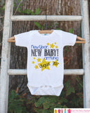 New Year New Baby - Custom New Years Eve Onepiece With Stars - Newborn Keepsake Outfit - 1st New Year Bodysuit for Baby Girls or Baby Boys - Get The Party Started