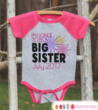 Going To Be Big Sister Onepiece or Shirt - Big Sister - Custom Happy New Years Outfit - Pregnancy Announcement - Sibling Reveal - New Baby