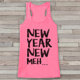 New Years Tank Top - Funny Tank - Womens Tank Top - Happy New Years Tank -  Pink Tank - Pink Tank Top - Funny New Years - Workout Tank Top - Get The Party Started