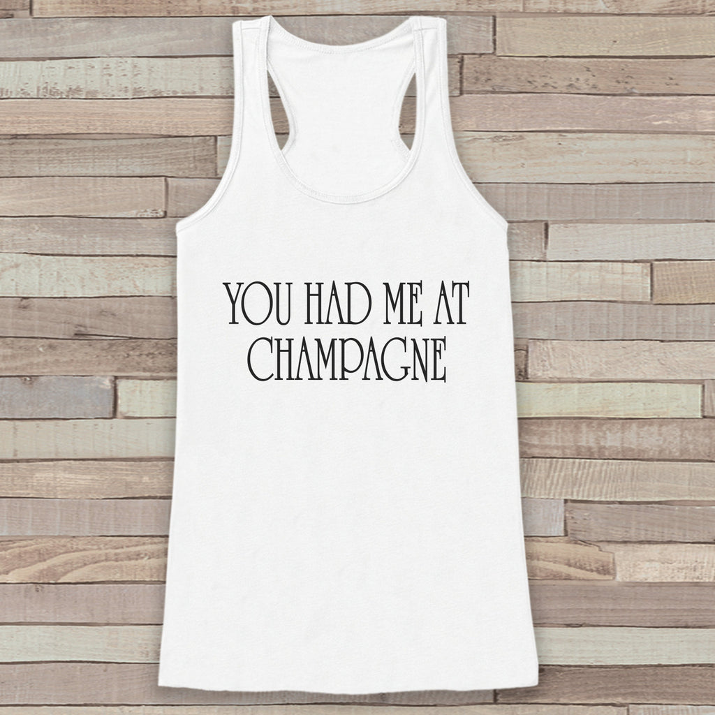 New Years Tank - Champagne Drinking Tank - Womens Razorback - New Year Tank -  White Tank - White Tank Top - Funny New Years - Workout Top