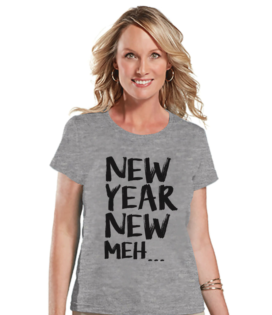 New Years Eve Shirt - Womens Novelty Shirt - Grey T Shirt - Womens T-Shirt - Funny New Years Shirt - Womens Grey Tee - Ladies Holiday Top - Get The Party Started