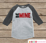 Kids Valentines Outfit - Be Mine Valentine's Day Shirt or Onepiece - Valentine Shirt for Boy or Girl - Baby, Toddler, Youth Valentine Outfit - Get The Party Started