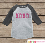 Girls Valentines Outfit - XOXO Kids Valentine's Day Shirt or Onepiece - Valentine Shirt for Baby Girl - Toddler, Youth Valentines Day Outfit - Get The Party Started