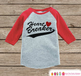 Boys Valentines Outfit - Heart Breaker Valentine's Day Shirt or Onepiece - Funny Valentine Shirt for Boys - Baby, Toddler, Youth Outfit - Get The Party Started
