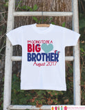 Boys Valentines Day Outfit - Boys Valentine's Day Pregnancy Reveal Shirt - Big Brother to Be - Kids Valentine Pregnancy Announcement Outfit